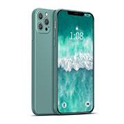 Ultra-thin Silicone Gel Soft Case 360 Degrees Cover for Apple iPhone 12 Pro Green