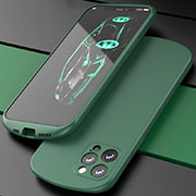Ultra-thin Silicone Gel Soft Case 360 Degrees Cover N01 for Apple iPhone 12 Pro Green