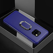 Ultra-thin Silicone Gel Soft Case Cover with Magnetic Finger Ring Stand for Huawei Mate 20 Pro Blue