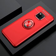 Ultra-thin Silicone Gel Soft Case Cover with Magnetic Finger Ring Stand T02 for Huawei Mate 20 Pro Red
