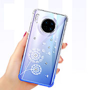Ultra-thin Transparent Butterfly Soft Case Cover for Huawei Mate 30 Pro 5G White