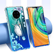 Ultra-thin Transparent Flowers Soft Case Cover for Huawei Mate 30 Pro 5G Mixed