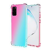 Ultra-thin Transparent Gel Gradient Soft Case Cover G01 for Samsung Galaxy S20 Plus 5G Mixed
