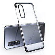 Ultra-thin Transparent TPU Soft Case Cover H02 for Oppo Find X2 Neo Black