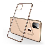 Ultra-thin Transparent TPU Soft Case Cover H03 for Apple iPhone 11 Pro Gold