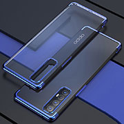 Ultra-thin Transparent TPU Soft Case Cover H03 for Oppo Find X2 Neo Blue