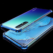 Ultra-thin Transparent TPU Soft Case Cover H04 for Oppo Find X2 Neo Blue