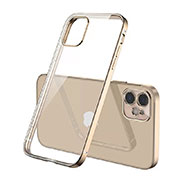 Ultra-thin Transparent TPU Soft Case Cover N01 for Apple iPhone 12 Gold
