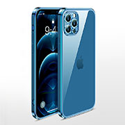 Ultra-thin Transparent TPU Soft Case Cover N01 for Apple iPhone 12 Pro Blue