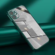 Ultra-thin Transparent TPU Soft Case Cover N02 for Apple iPhone 12 Midnight Green