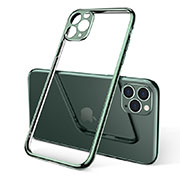 Ultra-thin Transparent TPU Soft Case Cover S01 for Apple iPhone 11 Pro Green