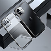 Ultra-thin Transparent TPU Soft Case Cover S01 for Apple iPhone 12 Black