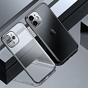 Ultra-thin Transparent TPU Soft Case Cover S01 for Apple iPhone 12 Pro Black