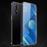 Ultra-thin Transparent TPU Soft Case Cover S01 for Oppo Find X2 Neo Black