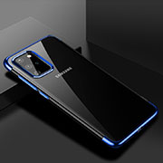 Ultra-thin Transparent TPU Soft Case Cover S01 for Samsung Galaxy S20 Plus 5G Blue