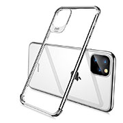 Ultra-thin Transparent TPU Soft Case Cover S02 for Apple iPhone 11 Pro Silver