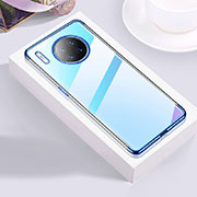 Ultra-thin Transparent TPU Soft Case Cover S02 for Huawei Mate 30 Pro 5G Blue