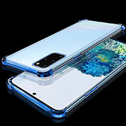 Ultra-thin Transparent TPU Soft Case Cover S02 for Samsung Galaxy S20 Plus 5G Blue