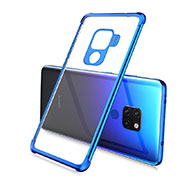 Ultra-thin Transparent TPU Soft Case Cover S03 for Huawei Mate 20 Blue