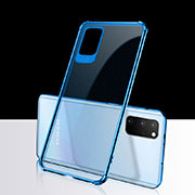 Ultra-thin Transparent TPU Soft Case Cover S03 for Samsung Galaxy S20 Plus 5G Blue