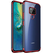 Ultra-thin Transparent TPU Soft Case Cover S04 for Huawei Mate 20 Red