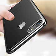 Ultra-thin Transparent TPU Soft Case T18 for Apple iPhone 8 Black