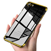 Ultra-thin Transparent TPU Soft Case T19 for Apple iPhone SE (2020) Gold