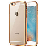 Ultra-thin Transparent TPU Soft Case T21 for Apple iPhone SE (2020) Gold