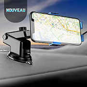 Universal Car Suction Cup Mount Cell Phone Holder Cradle H15 Blue