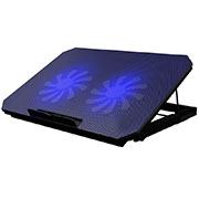 Universal Laptop Stand Notebook Holder Cooling Pad USB Fans 9 inch to 16 inch M19 for Apple MacBook 12 inch Black