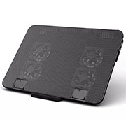 Universal Laptop Stand Notebook Holder Cooling Pad USB Fans 9 inch to 16 inch M21 for Apple MacBook 12 inch Black