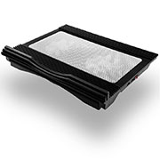 Universal Laptop Stand Notebook Holder Cooling Pad USB Fans 9 inch to 17 inch L05 for Apple MacBook Pro 15 inch Black