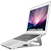 Universal Laptop Stand Notebook Holder S05 for Apple MacBook Air 11 inch Silver