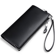 Universal Leather Wristlet Wallet Handbag Case H34 Black