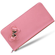 Universal Leather Wristlet Wallet Handbag Case Pink