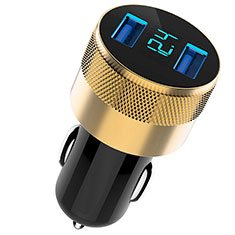 3.1A Car Charger Adapter Dual USB Twin Port Cigarette Lighter USB Charger Universal Fast Charging U06 for Alcatel 3 Black