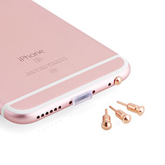 3.5mm Anti Dust Cap Earphone Jack Plug Cover Protector Plugy Stopper Universal D05 for Alcatel 3 Rose Gold