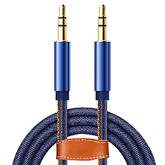 3.5mm Male to Male Stereo Aux Auxiliary Audio Extension Cable A05 for Apple MacBook Air 13.3 2018 Blue