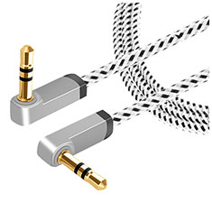 3.5mm Male to Male Stereo Aux Auxiliary Audio Extension Cable A13 Silver