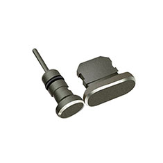 Anti Dust Cap Lightning Jack Plug Cover Protector Plugy Stopper Universal J01 for Apple iPhone 12 Mini Black