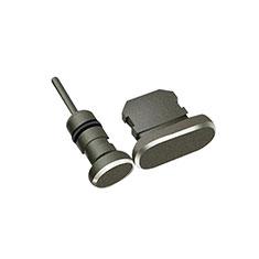 Anti Dust Cap Lightning Jack Plug Cover Protector Plugy Stopper Universal J01 for Apple iPhone 7 Plus Black