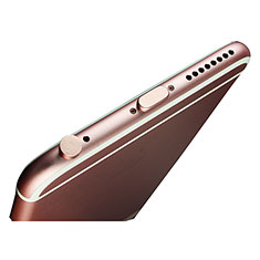 Anti Dust Cap Lightning Jack Plug Cover Protector Plugy Stopper Universal J02 for Apple iPhone X Rose Gold