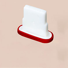 Anti Dust Cap Lightning Jack Plug Cover Protector Plugy Stopper Universal J07 for Apple iPhone 12 Red