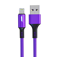 Charger USB Data Cable Charging Cord D21 for Apple iPad Mini 5 (2019) Purple