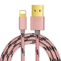 Charger USB Data Cable Charging Cord L01 for Apple iPhone SE (2020) Rose Gold