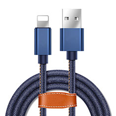 Charger USB Data Cable Charging Cord L04 for Apple iPhone SE (2020) Blue
