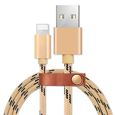 Charger USB Data Cable Charging Cord L05 for Apple iPhone SE (2020) Gold