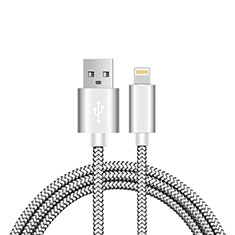 Charger USB Data Cable Charging Cord L07 for Apple iPhone 12 Silver
