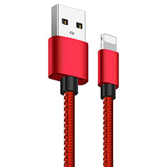 Charger USB Data Cable Charging Cord L11 for Apple iPhone SE (2020) Red