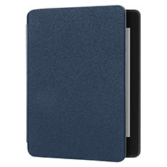 Cloth Case Stands Flip Cover for Amazon Kindle 6 inch Blue